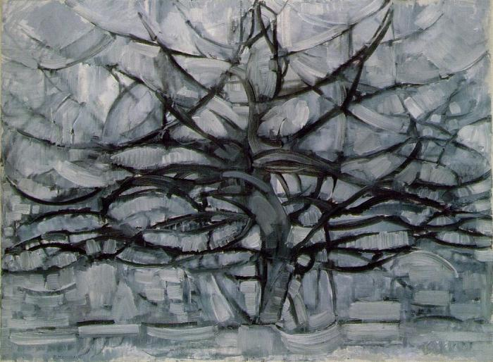 Art History Timelines: View Artwork: Piet Mondrian, Gray Tree