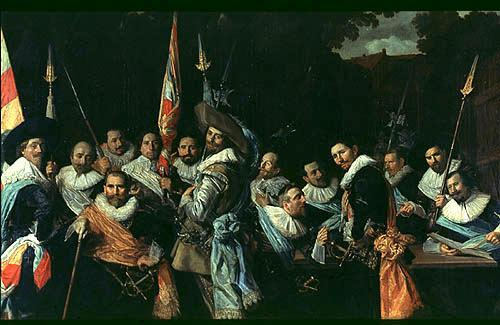 Art History Timelines: Frans Hals, Archers of Saint Hadrian - 1633
